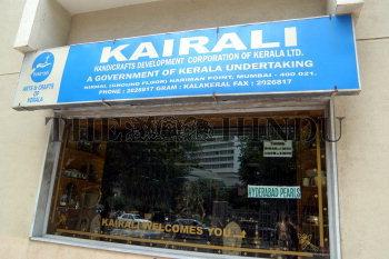 Kairali Kerala Handicrafts Showroom Being Shutdown At Nariman Point