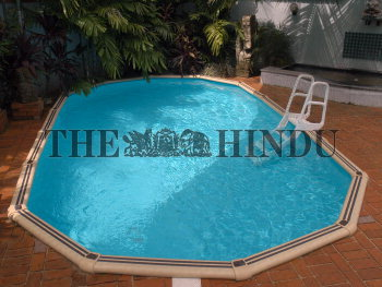 CHENNAI: Readymade swimming pool at Mermaid showroom on East ...