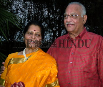 Sucharitha Reddy with her husband Dr  Prathap C  Reddy of