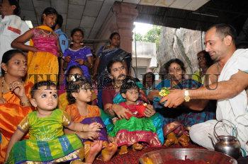 Families perform Suhasini Puja in Bhavani Deeksha Mandapam on